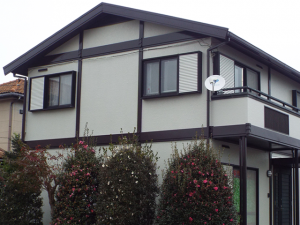 千葉県野田市の外壁塗装屋根塗装の施工実績 施工前の写真