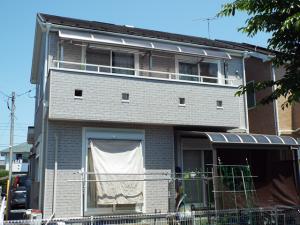栃木県小山市の外壁屋根塗装の施工事例 施工前の写真