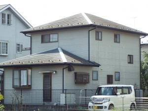 栃木県小山市 E様邸 外壁屋根塗装の施工事例 施工前の写真