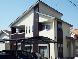 栃木県宇都宮市の外壁屋根塗装の施工例の施工後写真