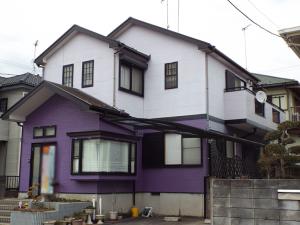 茨城県つくば市の外壁屋根塗装の施工前写真