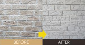 JOYTOP仕上げ工法(デザイン塗装)で塗り上げたサイディング外壁