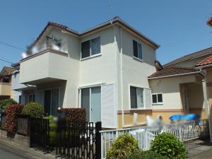所沢市の外壁塗装施工事例 施工前写真