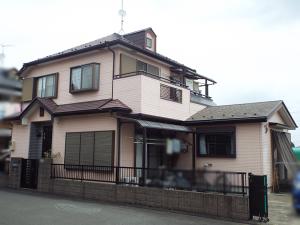 所沢市の外壁塗装 施工前写真